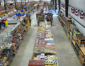 The Fireworks Superstore-overhead